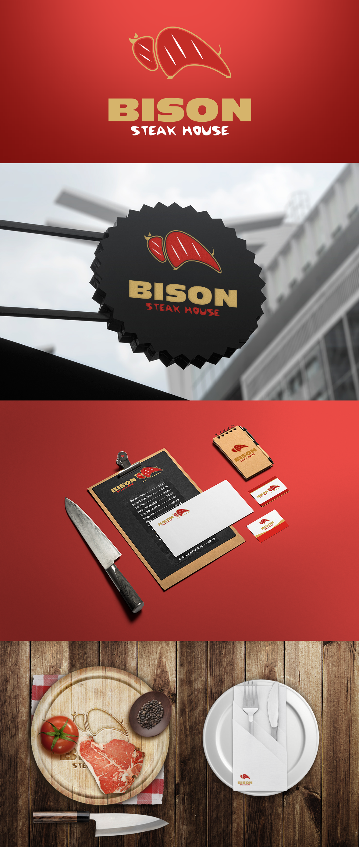 Bison steak house